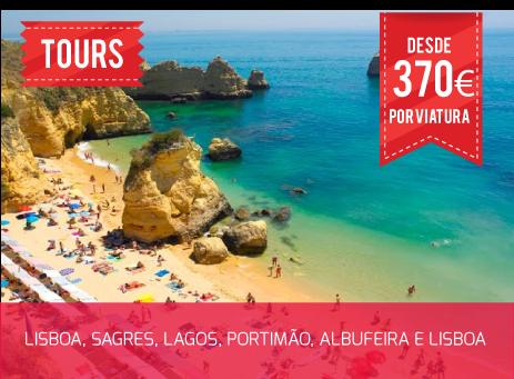 Tour Algarve, desde 370€ por viatura